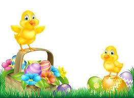 chicken border clip art. Brilliant Art Cartoon Easter Chicks Baby Chicken Birds Chocolate Painted Eggs  Spring Flowers And In Chicken Border Clip Art 2