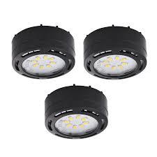plug in cabinet lighting. Amax Lighting 3-Pack 2.625-in Plug-In Under Cabinet Led Puck Light Plug In E