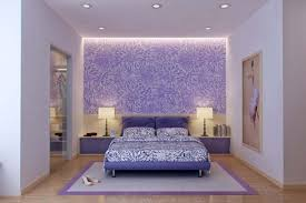 Wooden Floor With Elegant Purple Wallpaper Using LED Strip For Beautiful  Bedroom Design With Modern Recessed Lighting And Purple Bed Frame