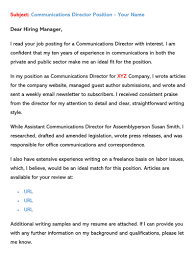 So, a subject line is the only way to get your resume noticed and when there is a tough competition for just one opening, it's time to stand out of hundreds of resumes being sent every day. Sample Email Cover Letters Examples How To Write And Send