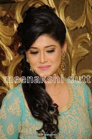 subtle reception makeup for turquoise gown modern traditional bridal