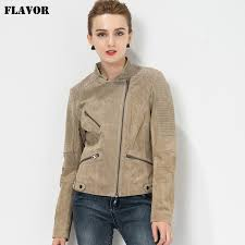 s 4xl plus size women s biker coat real leather motorcycle slim fit genuine leather jacket