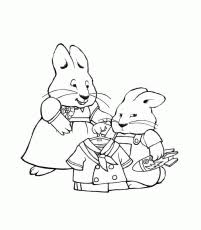 Small Picture Max And Ruby Coloring Page Coloring Home