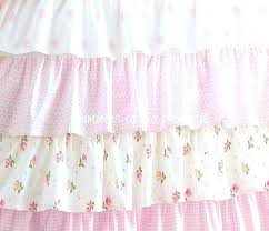shabby cottage colors chic petticoat ruffle shower curtain colorful curtains pretty pink bathrooms blue anchor hooks