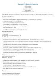 Public Relations Resume Sample Public relations resume template 97