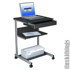 mobile printer stand. Plain Stand Image Is Loading RollingPortableComputerDeskMobileWorkStationLaptop Intended Mobile Printer Stand