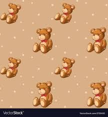 Teddy Bear Design A Seamless Design With Teddy Bears