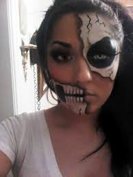 sugar skull makeup half face 2020