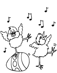 Easter Coloring Page 2 Chirping Chick An Egg