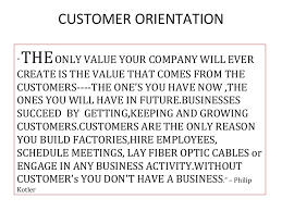 customer orientation examples customer orientation xp version