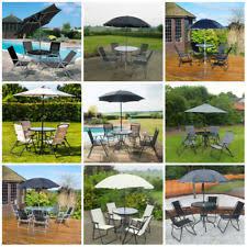 garden patio furniture. garden patio furniture set 4/6 seat dining parasol glass table and chairs uk i
