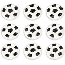 Soccer Ball Icing Decorations Amazon Wilton Soccer Balls Icing Decorations Perfect For 6