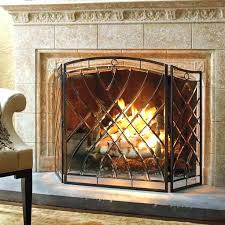 enchanting great northern lodge free standing fireplace screen dragon forge at screens