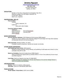 How To Make A Resume For A Teenager First Job How To Make A Resume For College 100 Job Examples Highschool 4