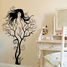 Small Picture Aliexpresscom Buy Creative Sexy Girl Tree Gril Vinyl Wall Decal
