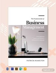 Free Book Template For Word Free Business Management Book Cover Template Word Psd