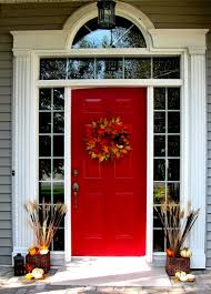 fall front door decorations67 Cute And Inviting Fall Front Door Dcor Ideas  DigsDigs