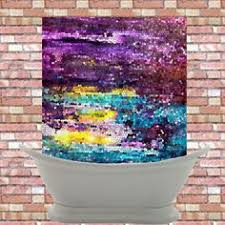 yellow and purple shower curtain. artistic shower curtain - broken dawn abstract mosaic colorful curtain, purple, teal yellow and purple d