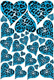 blue animal print wallpaper. Unique Blue Blue Leopard Cheetah Print Hearts Wall Stickers Decals And Animal Wallpaper