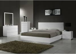 Salerno White Contemporary Bedroom Sets