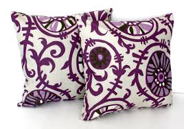 decor purple throw pillows  lavender decorative pillows  purple