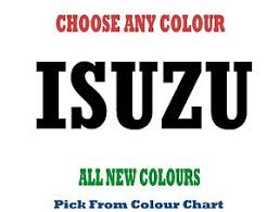 Isuzu Colour Chart Details About Isuzu 580mm Choice Of Colours Decal Sticker Truck Ute Rm Williams