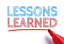 Image result for lessons learned