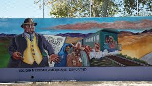 detail of the great wall of los angeles 1976 by judith f on wall mural artist los angeles with concrete history chicana muralist judith f baca goes from the