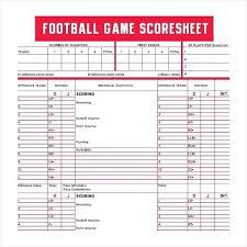 Football Score Sheet Template Afl Sample Vytro