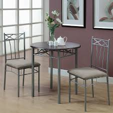 monarch specialties cappuccino silver dining set with round dining table