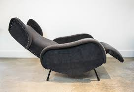 mid century recliner. Pair Of Italian Mid Century Recliners In The Style Zanuso Charcoal Mohair Recliner