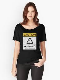 caution 55 year old 55th humorous birthday t shirt 1963 gift and more women s relaxed fit t shirt