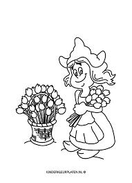 Kleurplaat Tulpen Nederlands Algemeen