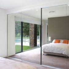 Mirrored Sliding Closet Doors For Bedrooms Mirror Sliding Wardrobe Doors Trend Door Sliding Mirror Door Home