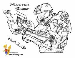 heroic halo 4 coloring pages free and