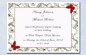 Wedding Invitation Card Sample Sample Of Invitation Cards Jennie Design
