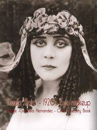 theda bara 1920s eye makeup look