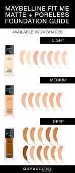 Maybelline Fit Me Foundation Shades Chart Fit Me Matte Color Chart Fitness And Workout