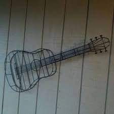 guitar sculpture wire wall art on metal wire guitar wall art with 31 best for the home images on pinterest metal art metal yard art