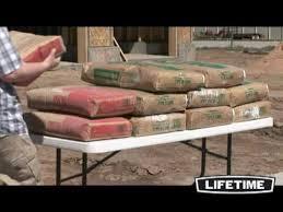 lifetime 4 ft folding table granite