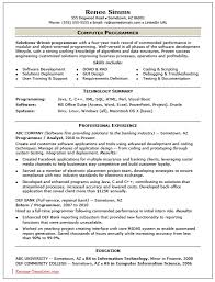 Computer Programmer Resume Examples Resume Vb Dotnet Programmer Resume Vb  Puter Programmer Resume