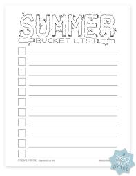 Bucket List Printable Template Summer Bucket List Free Printable Tried True Creative