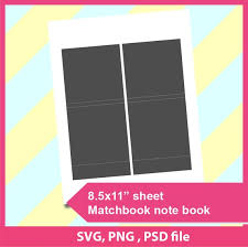 Notebook Paper Template For Word Amazing Instant Download Matchbook Notebook Template Microsoft Word Etsy