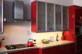 under cupboard kitchen lighting. Red Kitchen Cabinets With Frosted Glass And Under Cabinet Lighting Ideas Using Modular LED Cupboard S