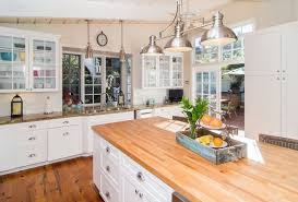 white country kitchen designs.  White White Country Kitchen Wood Counter Island With 3 Lamp Nickel Plated Pendant  Light With Country Kitchen Designs T