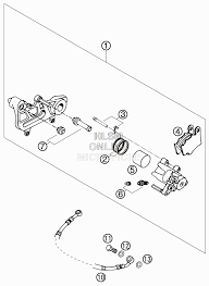 Запчасти для Мотоцикла ktm 2006 625 smc Раздел brake caliper rear тормозной суппорт зад