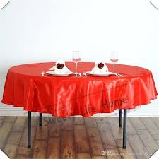 red table cloths satin tablecloths round table covers red table spread party decorations many color can