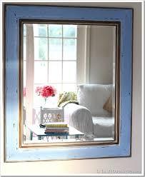 diy painted mirror frame. Painted-Mirror-Tutorial Using Glaze By \ Diy Painted Mirror Frame M