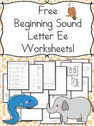 Letter E Worksheets Beginning Sounds Letter E Worksheets Free ...