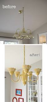 the before is what i have right now in silver which makes it paint chandelierpainting